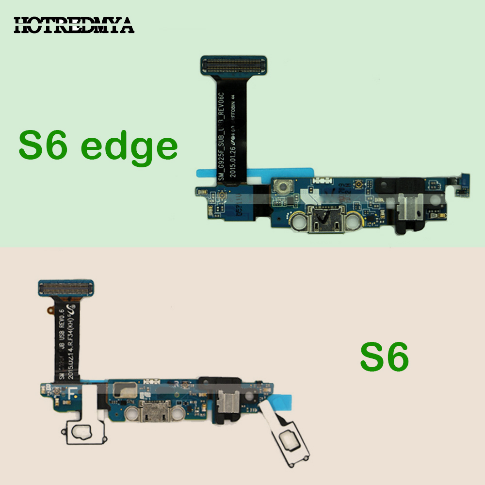 Connector Replacement Parts USB Charger Charging Dock Port Flex Cable With Microphone For Samsung Galaxy S6 S6 Edge G920F G925F