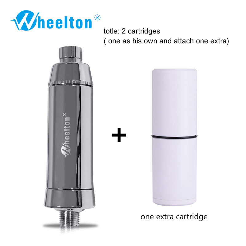 wheelton shower water filter h 301 1e softener chlorine heavy metal removal bath purifier. Black Bedroom Furniture Sets. Home Design Ideas