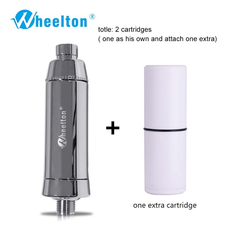 Wheelton Shower Water Filter(H-301-1E) Softener Chlorine&Heavy Metal Removal Bath purifier Health Bathing For Health Bathing