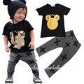 2016new moda meninos e meninas do bebê Mickey terno de verão para crianças define manga curta-shirt t two-piece calças