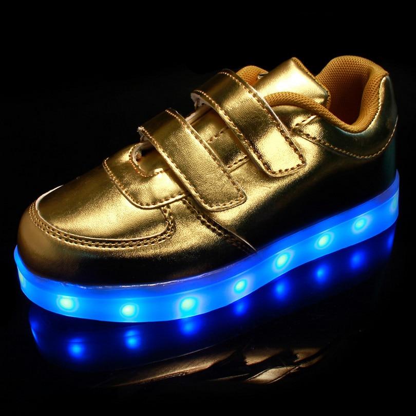 info for ac3b8 785a8 Spring Chaussure Lumineuse Enfant USB Kids Light Up Shoes Baskets Led  Enfants Garcon Boys Sport Shoes Children Light Sneakers