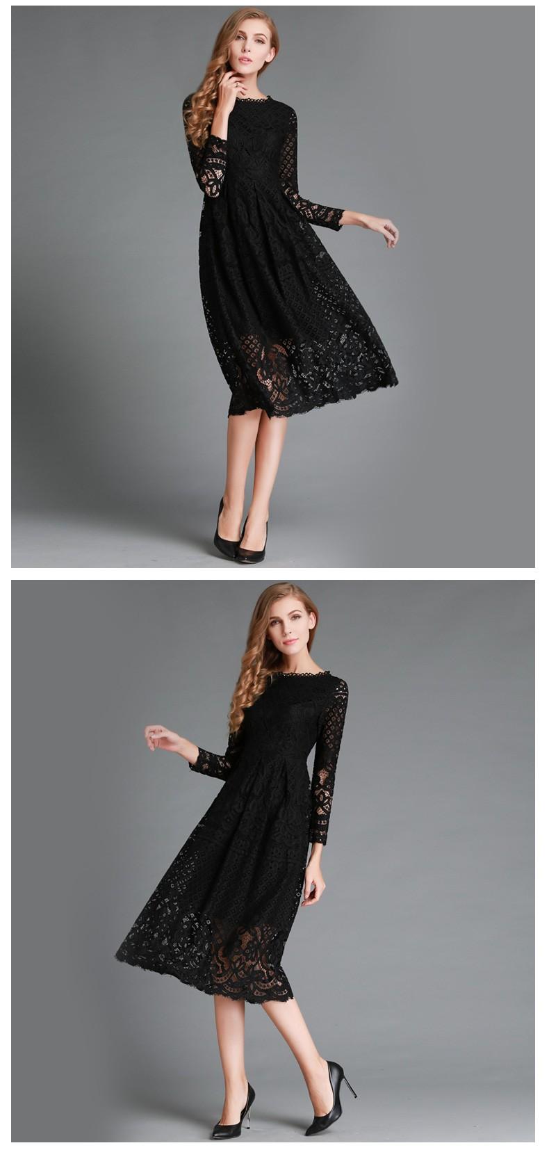 Beauty Long Sleeved Lace Dress 7