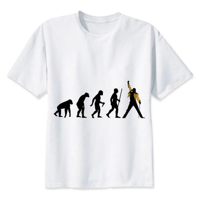 810412a69fea4 Freddie mercury impressão tshirt dos homens casuais o pescoço t camisas dos  homens da moda tops