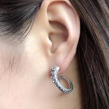 Silver Octopus Tentacles Earrings (1 pair)