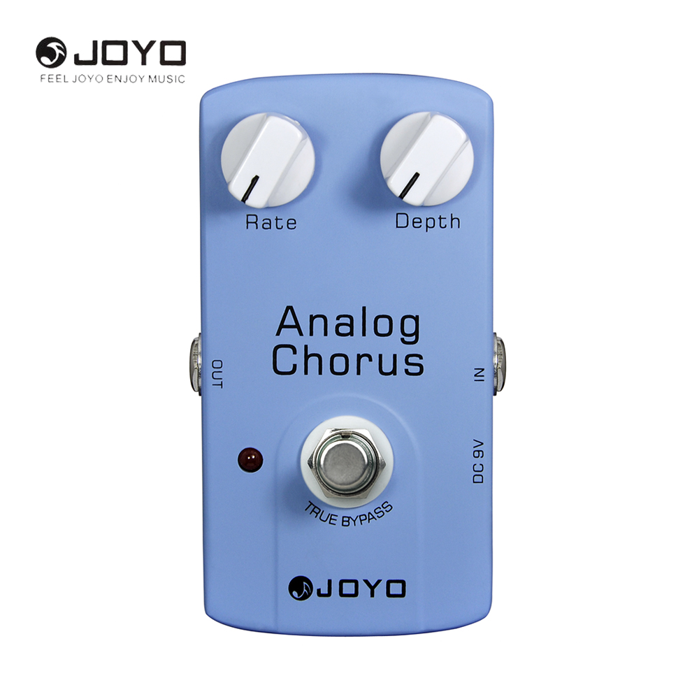 JOYO JF-37 Analog Chorus Electric Guitar Effect Pedal Adjustable Tone True Bypass Design joyo jf 16 bypass design brithish sound guitar effect amplifier simulator pedal purple