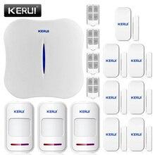 2016 новый kerui w1 wifi главная охранная охранной сигнализации PSTN Интеллектуальная Сигнализация Android IOS APP Управления Голосовые Подсказки Сигнализация комплект