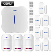 2016 New KERUI W1 WIFI Home Burglar Security Alarm System PSTN Intelligent Alarm Android IOS APP Control Voice Prompt Alarm Kit