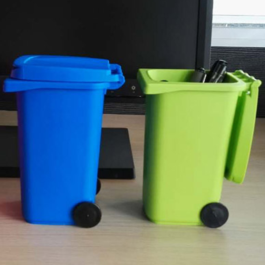 Home Office Trash Rubbish Garbage Waist Bin Bag Recyclable Plastic Lock Holder Stable Skid Clip