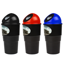 Delicate Car garbage can vehicle Trash Can Garbage Dust Case Holder Bin Auto Styling Accessories EA10724