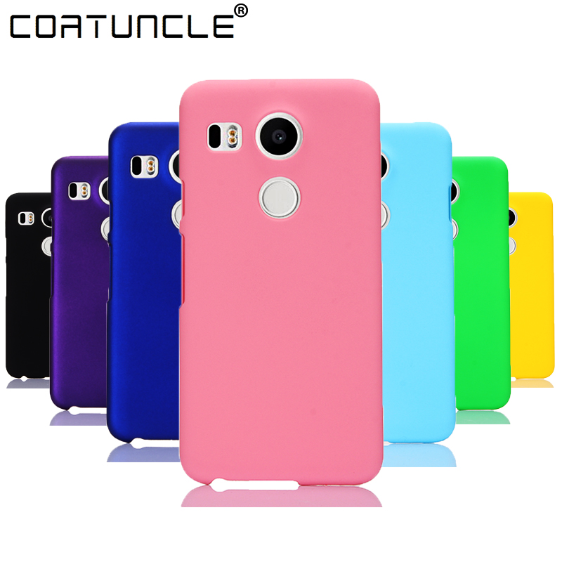 COATUNCLE Phone Case sFor Fundas LG Google Nexus 5X case For Coque LG Nexus 5X Candy Color Hard plastic PC cover phone cases image