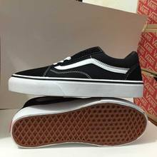 Free shipping Vans Old Skool low-top classics Unisex women's Sneakers Shoes canvas Shoes Weight lifting shoes size36-39(China)