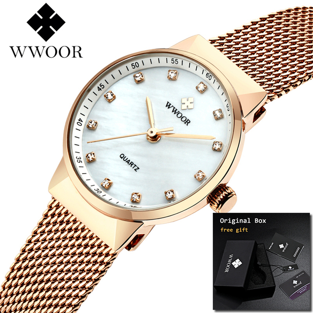 2019 Watch Women Top Brand Luxury Minimalism Women's Small Diamond Watches Charm