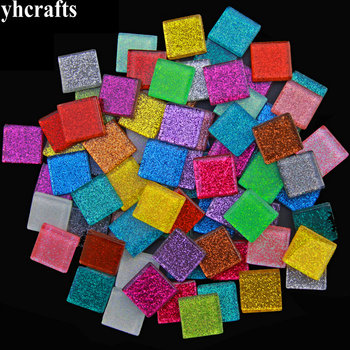 260PCS/1000Gram/Lot Mix 2cm glitter mosaic beads Mosaic art Marble mosaic Craft material Handmade hobby Adult DIY Arts and craft