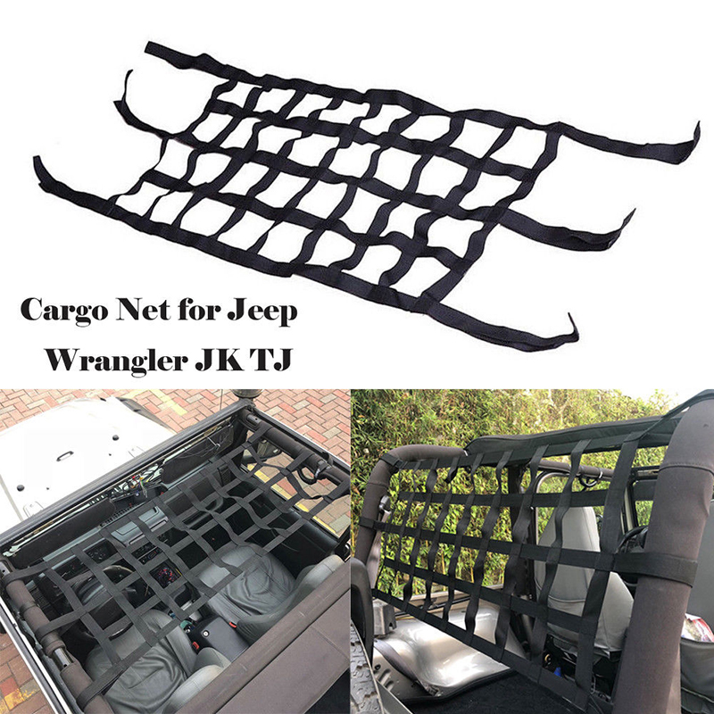 Image 2 - Car Rear Cargo Organizer Storage Elastic String Net Mesh Bag Pocket Black Trunk-in Roof Racks & Boxes from Automobiles & Motorcycles