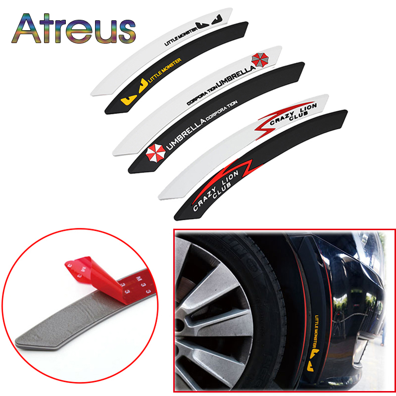 Atreus Car Wheel eyebrow decorative Anti-collision Strip Sticker for kia Ceed Suzuki grand vitara Citroen xsara picasso C3 Lada kia ceed автомобили с пробегом