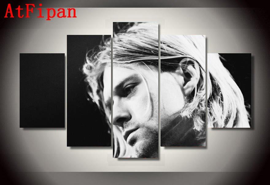 Atfipan Venta caliente imágenes modulares HD impreso Kurt Cobain ...