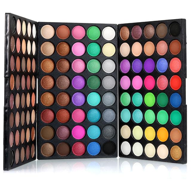 Nova Shimmer Matte Eyeshadow Palette 120 Cores Destaque Pó Duradoura Maquiagem Beleza sombra de Olho À Prova D' Água Cosméticos Definir I214