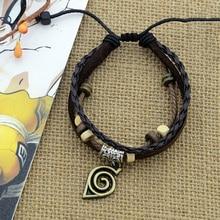 naruto Bracelets Anime cosplay Accessories props pu bracelet