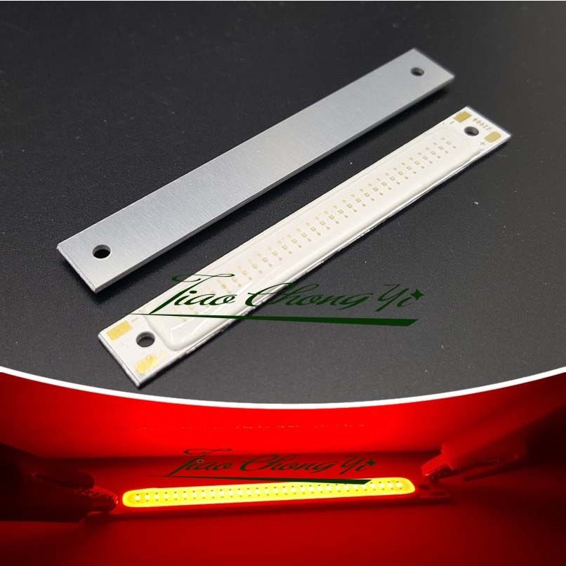10X 3V 3W 60X8mm Red LED Module 70lm COB strip beads bicycle light source car l