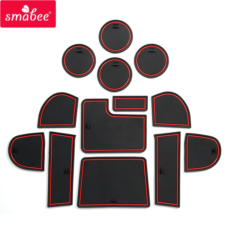 Smabee Anti-Slip Gate Slot Mat For Subaru WRX 2015~2020 WRX STI 2016 2017 2018 2019 Accessories Rubber Cup Holders Non-slip Mats