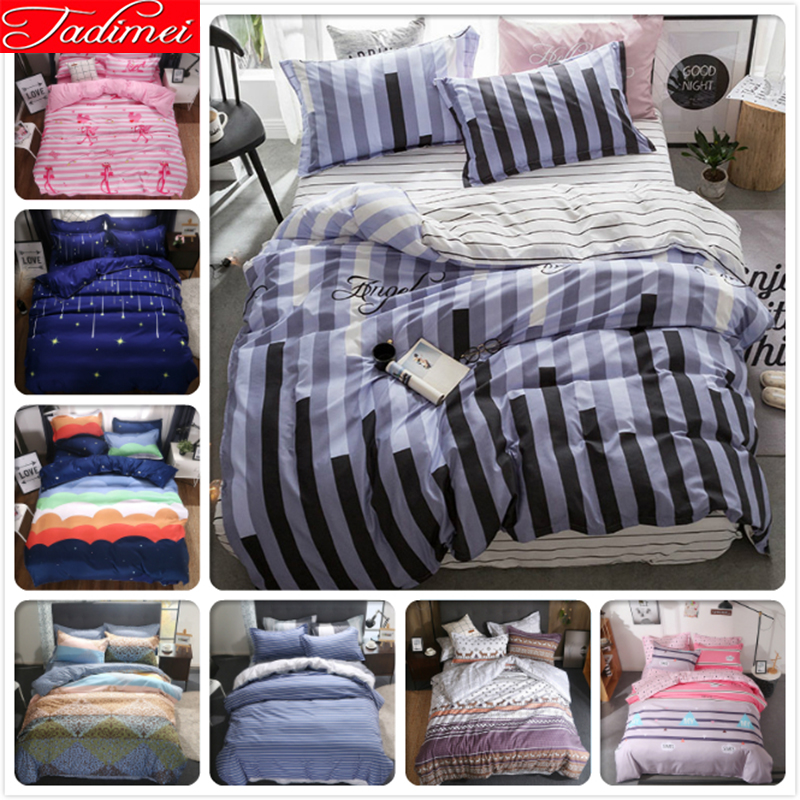 Creative Plaid Stripe Quilt Duvet Cover 3/4 Pcs Bedding Set Adult Kids Soft Cotton Bed Linen Single Twin Queen King Size 220x240