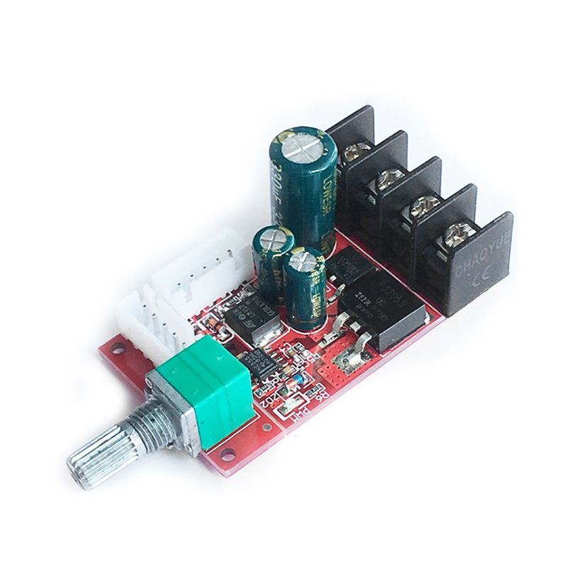 DC10V-50V 15A DC Motor Speed Control Board LED Dimmer Switch High-Power Governor