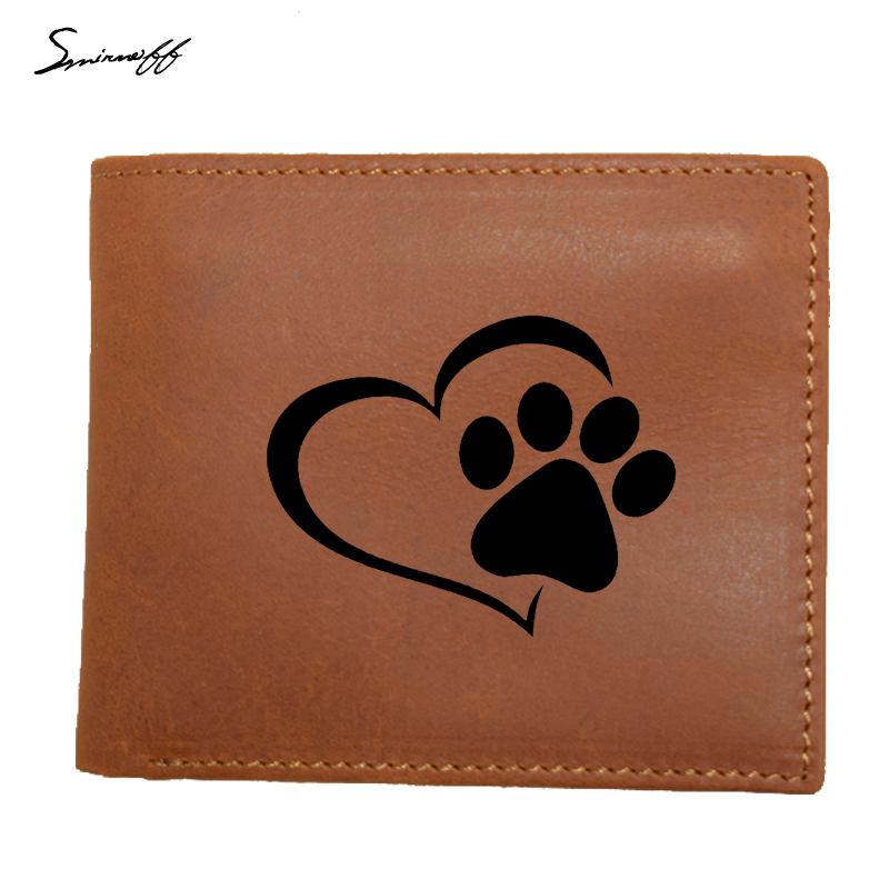 100% Genuine Leather Men Wallet Small IM Driving Where Wolves Are Afraid Men Walet Portomonee Male Short Coin Purse Carteira