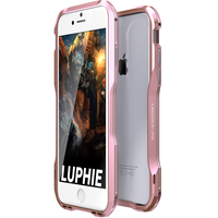 Luphie Dual Color 3D Metal Bumper Cover For Apple Iphone 8 Cases Luxury Aluminum Frame Coque