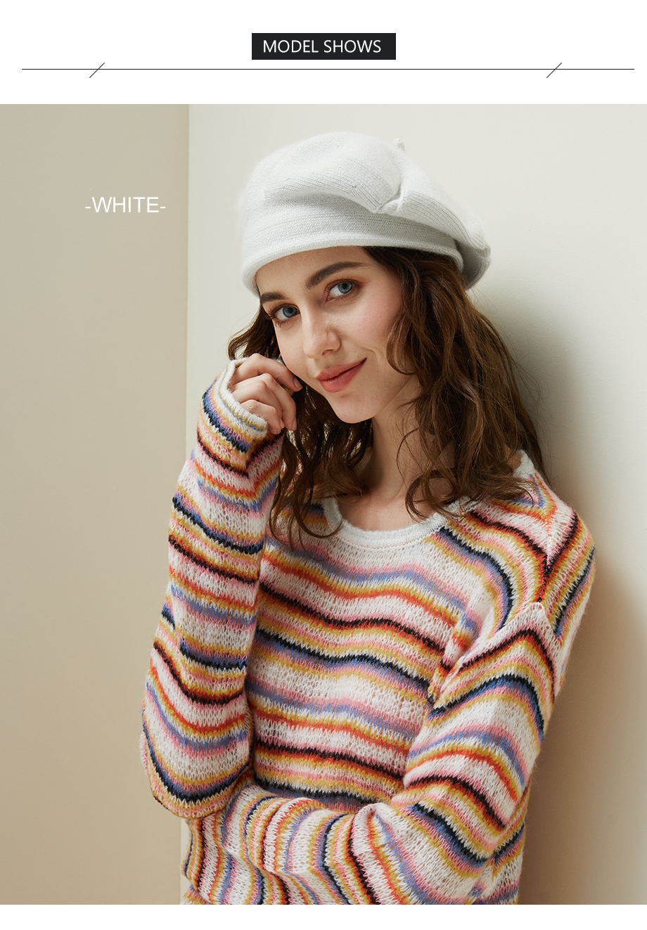 Women Knitted Beret Winter Warm Hat Female 2018 New Brand British Style Lady Painter Bonnet Hats Solid Color Beanies Wholesale (5)