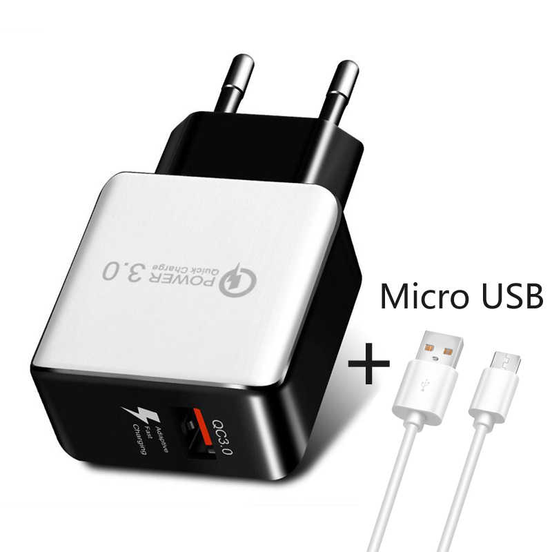 GEUMXL 急速充電 3.0 EU qc 3.0 USB ターボ壁高速旅行充電器サムスン華為 Xiaomi iphone 電話急速充電