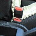 2 unids/set más nuevo Universal Car styling 2 colores elegido fuentes autos del coche Clip de cinturón de cinturones de seguridad hebilla con enchufe