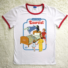 Hillbilly Harajuku T-shirts Women 80s 90s Lets Call The Exorcist Funny Hot Sale T Shirts Red Neck Polyester & Spandex Soft Tees