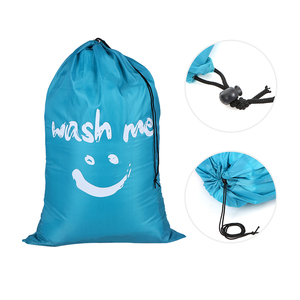 Image 5 - Laundry Bag Foldable Nylon Drawstring Laundry Bag Dirty Clothes Storage Bags Multi functional Home Laundromat Travel Organizer