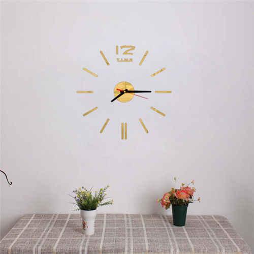 لتقوم بها بنفسك الحديثة غروس واندوهر مجموعة ثلاثية الأبعاد شبيجل Oberfläche Aufkleber Heimbüro أنيقة ثلاثية الأبعاد ساعة حائط