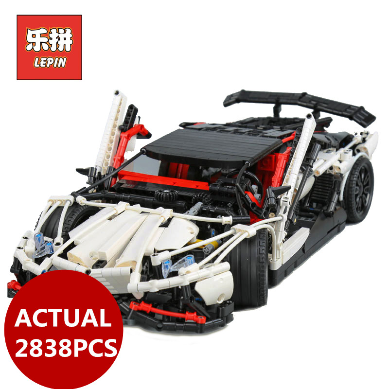 Lepin 23006 2838pcs Genuine MOC TECHNIC series the hatchback type R set building Blocks educational bricks Toys Boy gifts