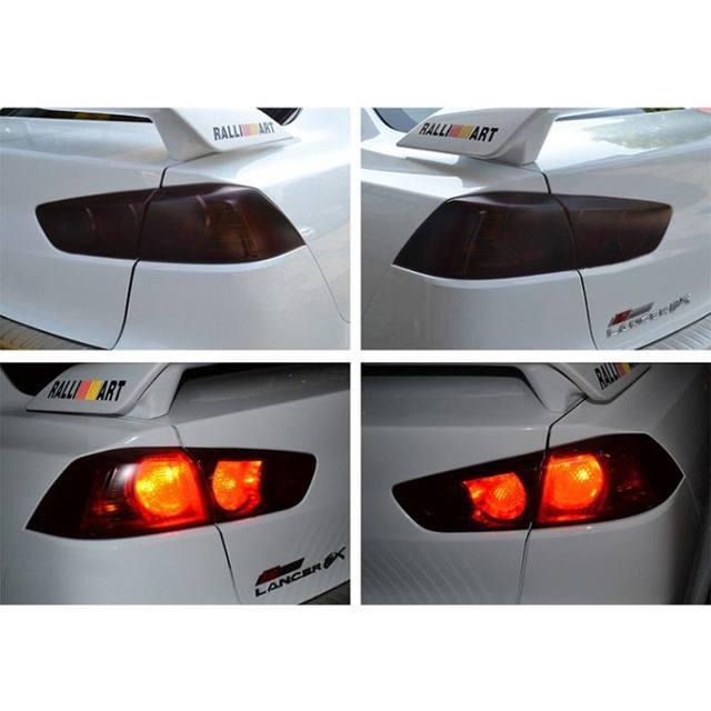 Film autocollant pour phare de voiture   Étiquette en feuille daluminium, facile à transporter, pour voiture moto, Film de fenêtre, 8 couleurs, 100*30cm