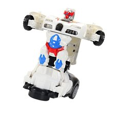 Light Music Automatic Deformation Toy Car ChildrenS Toys To Spread Electric Universal Playful Durable