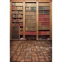 Vintage Book Shelf Backdrop High Grade Vinyl Cloth Computer Printed Custom Photography Studio Background