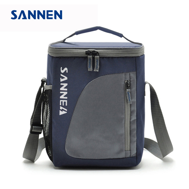 6fc69d2c50 SANNEN 8.8L Thermal Cooler Insulated Waterproof Lunch Box Storage Picnic Bag  Pouch Portable Cooler Bags Gray for Sandwich Snack