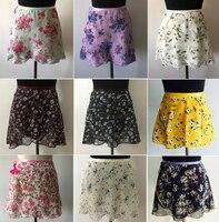 Ballet Dance Skirt New Style Adult Children Chiffon Flower Color Practice Leotard Adult Ballet Floral Print