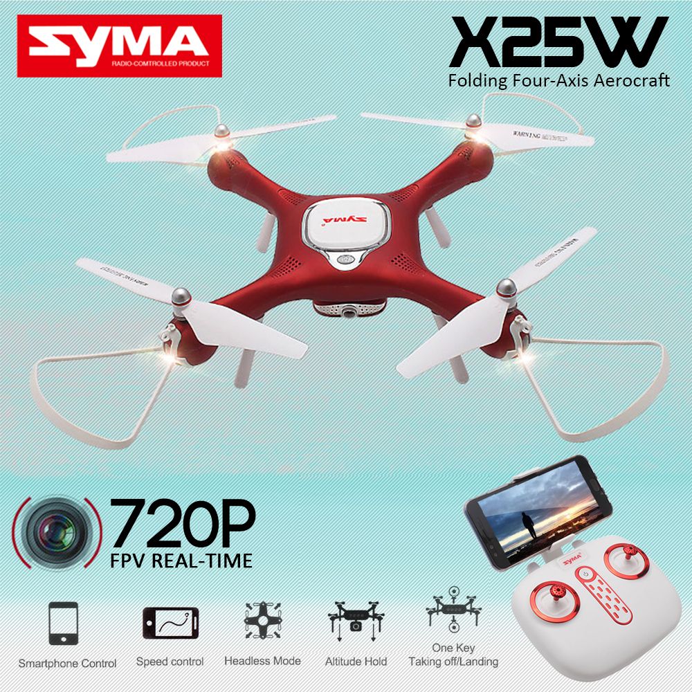 Syma X25W FPV RC Quadcopter RC Drone with 720P Camera 2.4G 6axis WIFI RC Helicopter Flying Along Path Headless Mode VS SYMA X5UW new syma x5 series x5uw rc drone gesture control helicopter quadcopter with camera hd fpv professional aerial uav for sale