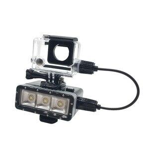 Image 5 - Ir pro acessórios para gopro hero 4/3 +/3 mergulho subaquático à prova dwaterproof água led luz caso habitação capa cabo de carga