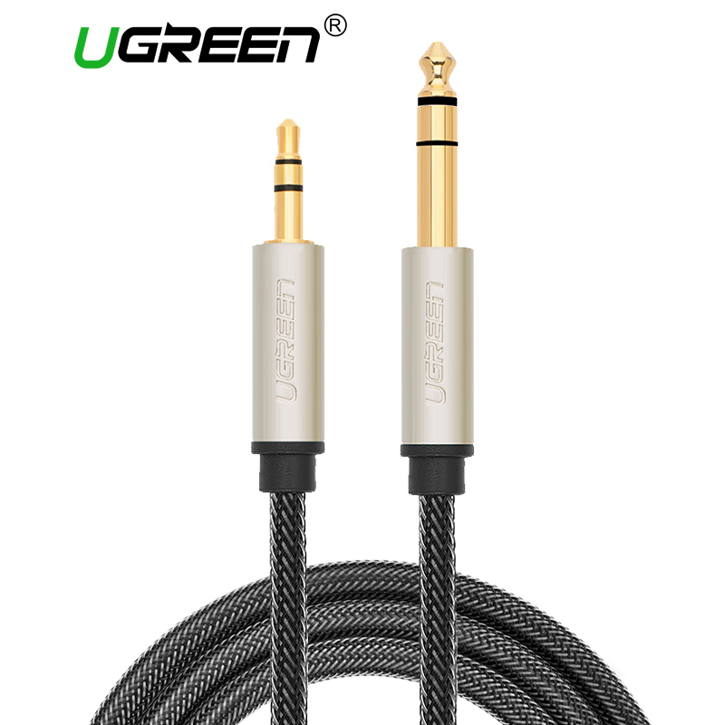 Ugreen 3.5mm to 6.35mm Adapter Aux Cable for Mixer Amplifier CD Player Speaker Gold Plated 3.5 Jack to 6.5 Jack Male Audio Cable фигурки игрушки schleich аксессуары для эльфов мечты