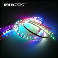 Newest 4Pcs x 45cm 1210 45 SMD DRL Universal Car Styling Flexible LED Strip Daytime Running Lights Waterproof Atmosphere lamp