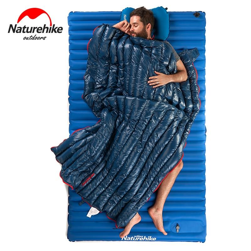 Naturehike Camping Sleeping Bag Ultralight Envelope Type 95% Goose Down Warm Travel Hiking Portable Splicing Double