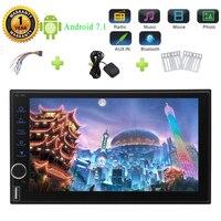 Восьмиядерный Android 7.1 nougat стерео 7 емкостный сенсорный экран двойной дин авто Радио Bluetooth руль Управление радио
