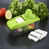 Multifunctional Vegetable Cutter Potato Onion Slicer Kitchen Accessories Slicer Manual Vegetable Cutter With 5 Blades