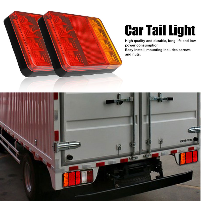 Aozbz 2pcs 8 leds car truck rear tail light warning lights rear aozbz 2pcs 8 leds car truck rear tail light warning lights rear lamps waterproof tailights rear parts for trailer truck boat 12v in car light assembly from aloadofball Image collections
