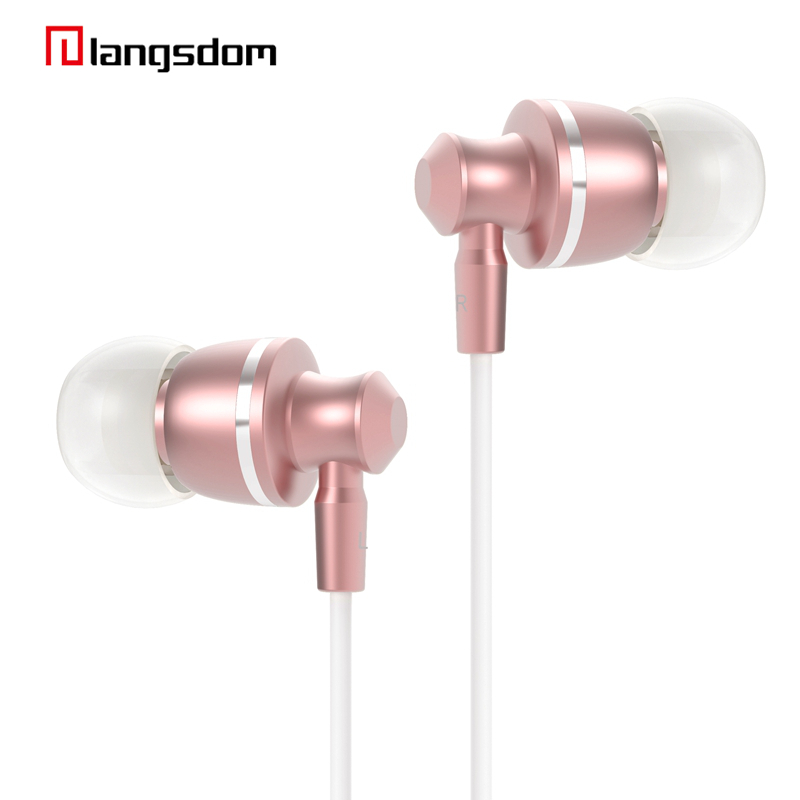 Stereo In Ear Earphone Metal Handsfree with Mic 3 5mm Earbud For Smart Phone MP3 Player