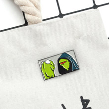 Kermit the Frog Brooch Enamel Pin Badge Cartoon Muppet show Inner Me Brooch Hat Bag Shirt Lapel Pin Buckle Gift for Women Men(China)